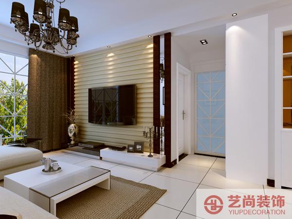 装饰张雅鑫设计总监,根据紫荆尚都87平米两室两厅户型图,设计高清图片