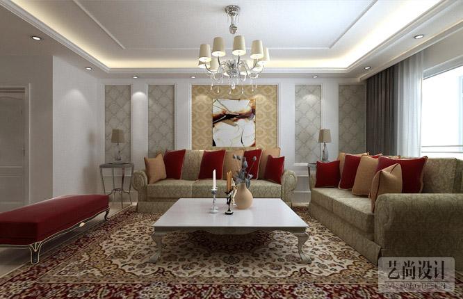 正商蓝海湾两室两厅客厅装修效果图 高清图片