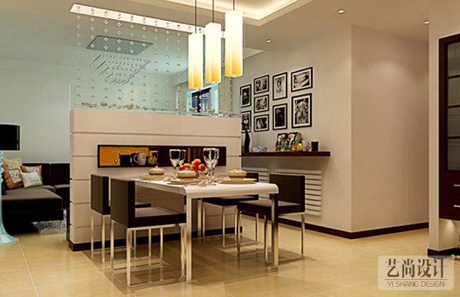 正商城107平米三室一厅餐厅雷火竞猜app效果图