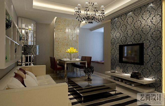 装修价位套餐供选.   鑫苑世纪东城两室两厅客厅装修效果图高清图片