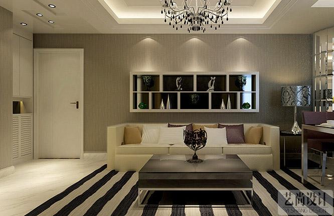 鑫苑世纪东城两室两厅客厅装修效果图 鑫苑世纪东城85平米高清图片