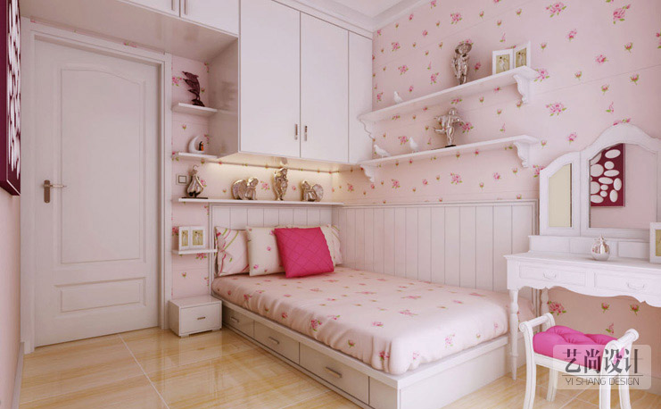 升龙城国际-两室两厅-女儿房田园-装修效果图