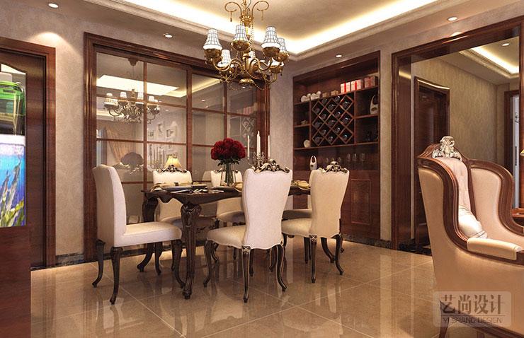 永威五月花城四室两厅简欧风格样板间装修案例
