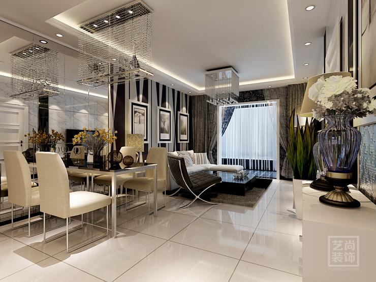 普羅旺世兩室兩廳75平方現代簡約樣板間裝修案例