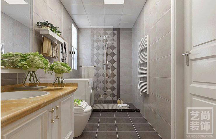 瀚宇天悅三室兩廳現代簡約裝修設計案例 洗手間效果圖