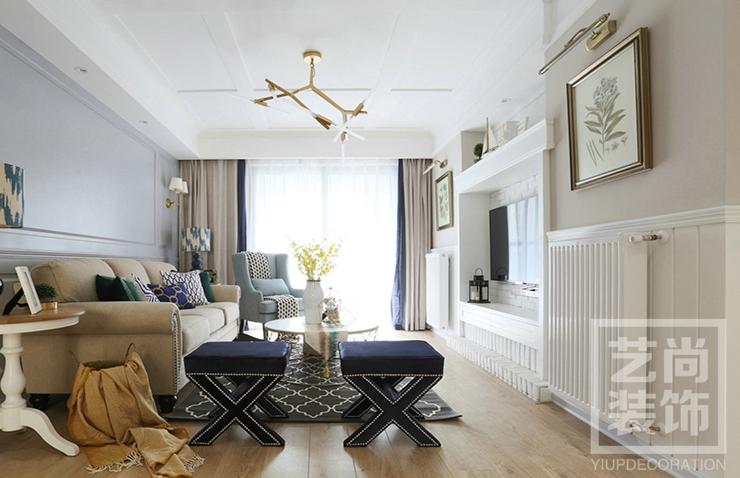 英地金臺府邸g戶型三室兩廳裝修效果圖 126平方三室兩廳現代簡約樣板