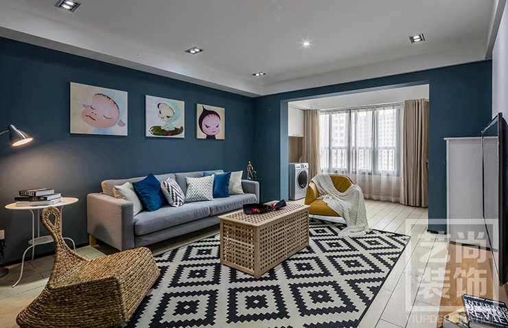 锦艺金水湾c户型三室两厅119.84平方现代简约样板间装修案例