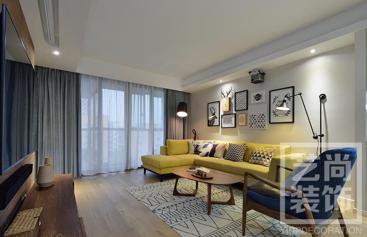 正商金域世家b1戶型兩室兩廳裝修效果圖 122平方兩室兩廳現代簡約樣板