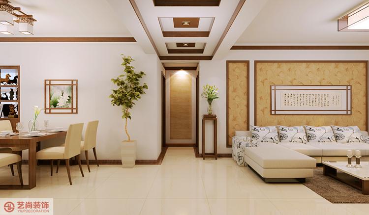153医院家属院三室两厅新中式装修案例图