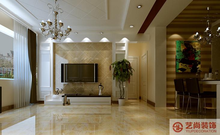 大观国际两室两厅一卫样板间装修案例