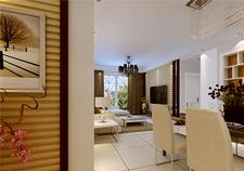 紫荆尚都两室两厅一卫装修案例效果图