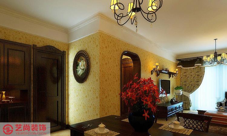 海马公园两室两厅一卫样板间装修案例