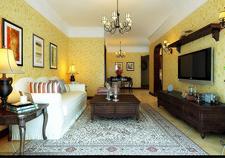 海马公园两室两厅一卫装修案例效果图