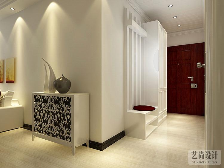锦绣城114平方三室两厅样板间装修案例-玄关装修效果图