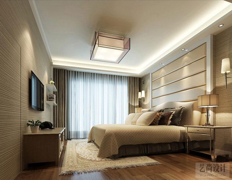 民安北郡三室两厅简欧风格样板间装修案例