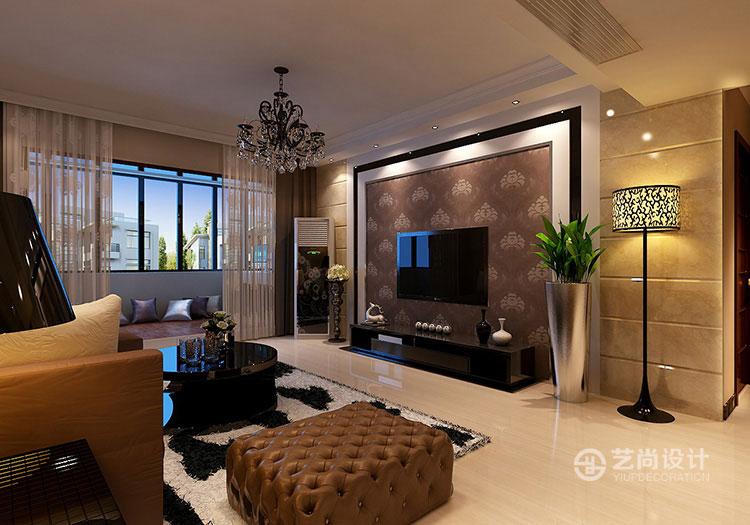 润城140平方三室两厅简欧风格装修效果图