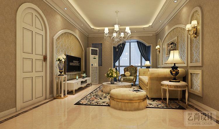绿城百合两室两厅装修效果图-客厅装修方案高清图片