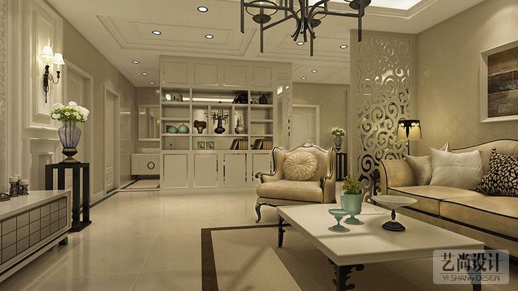 本套圣菲城110平方三室两厅装修方案的设计是以简欧风格为装修风格, 采用了欧洲文化丰富的艺术底 蕴,开放、创新的设计思想以及现代的设计理念,装饰材料的运用相结合设计 出符合现代人们审美关的室内空间,使用了大量的壁纸、软包、镜面装饰整个 空间,是整个空间呈现出优雅、唯美的姿态,平和而富有内涵的气韵,描绘出 居室主人高雅、尊贵的身份。