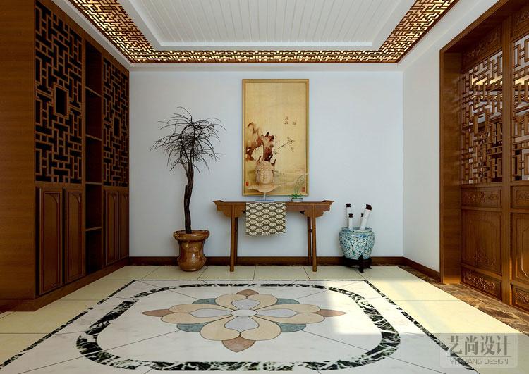 郑州保利海上五月花五室五厅装修案例-入户玄关装修效果图