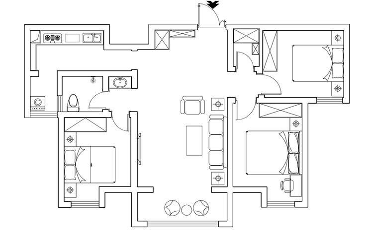 财信圣堤亚纳140平方三室两厅两卫户型图