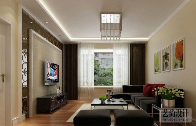 正商城兩室兩廳裝修效果圖 87平方兩室兩廳現代簡約樣板間裝修案例