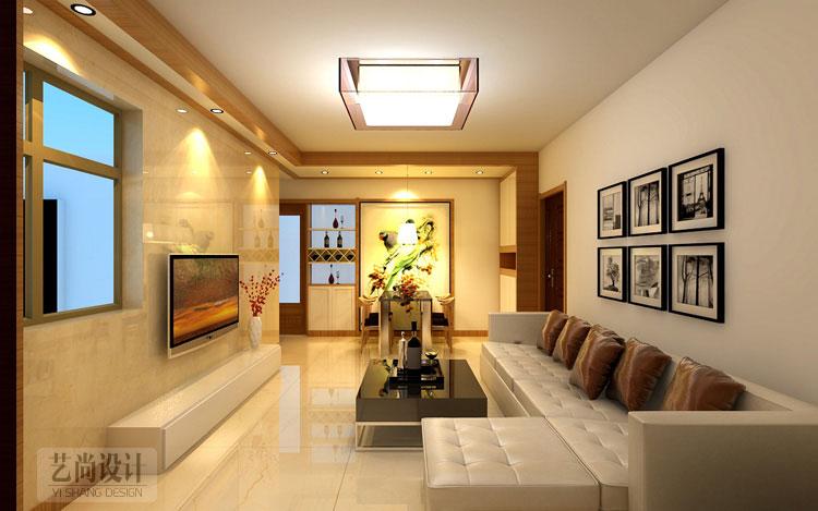 升龙城89平方三室两厅一卫装修效果图