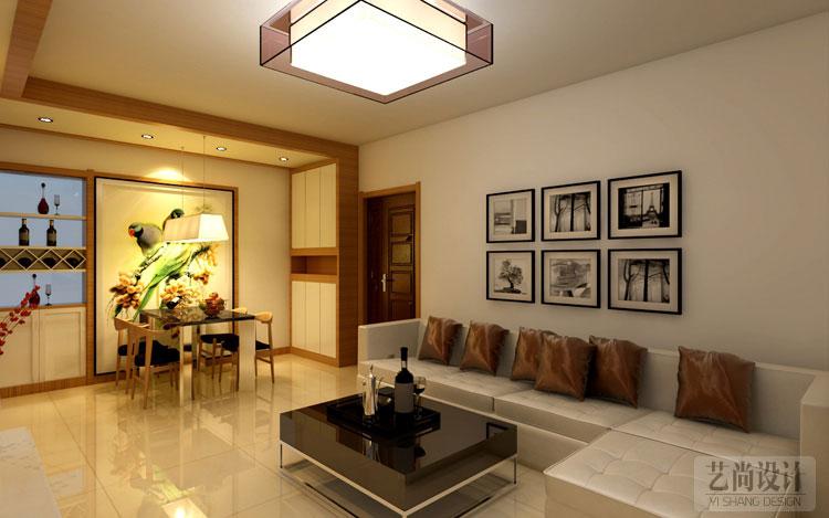 升龙城89平方三室两厅户型装修案例,客厅装修沙发效果图