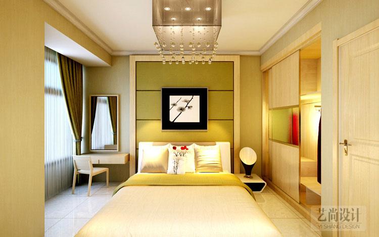 升龙城三室两厅89平方装修样板间,卧室装修效果图