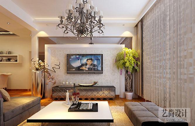 世纪东城两室两厅86平客厅装修效果图