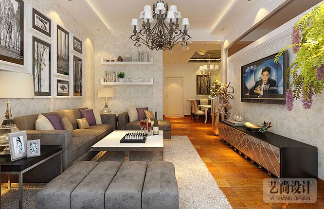 鑫苑世纪东城两室两厅一厨一卫电视背景墙