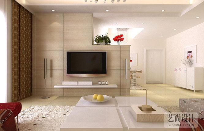 方圆创世75平方两室两厅一卫一厨装修效果图