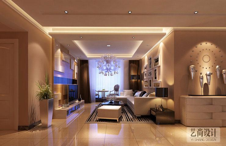 弘润幸福里123平方三室两厅装修效果图