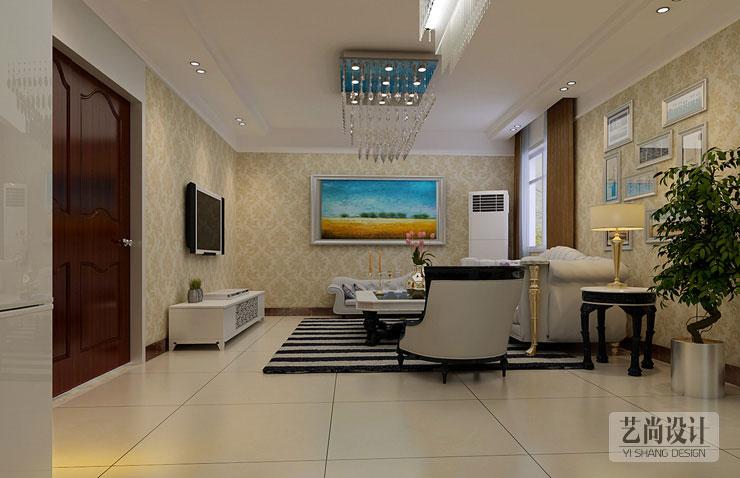 升龙城三室两厅一卫样板间装修案例
