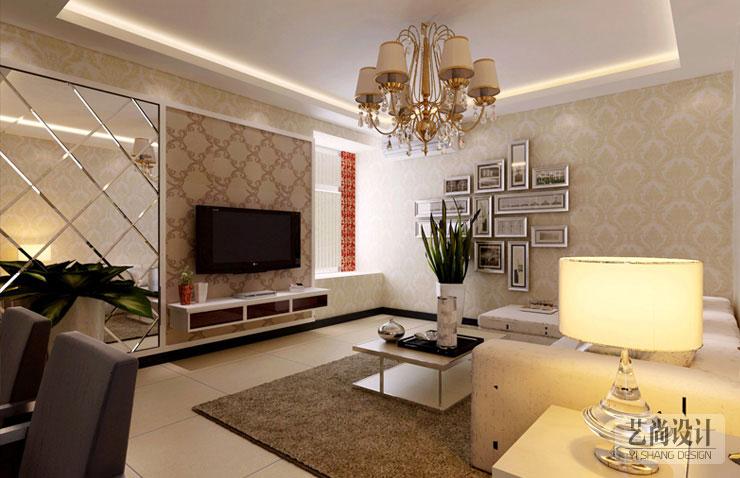 青藤苑两室两厅装修效果图 85平方两室两厅现代简约样板间装修案例