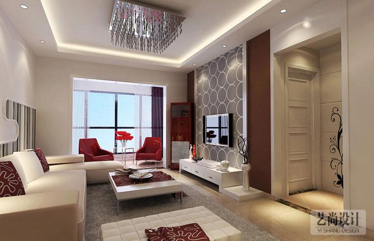 天骄华庭a1偶数层两室两厅84平方现代简约装修效果图