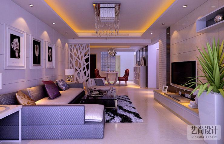 四室两厅134平方现代简约客厅装修效果
