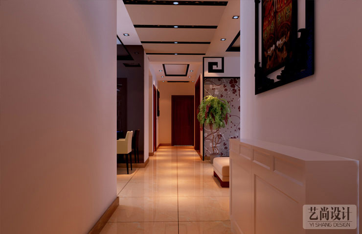 天骄华庭四室两厅两卫样板间装修案例