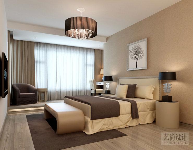 方圆创世两室两厅80平方次卧装修效果图