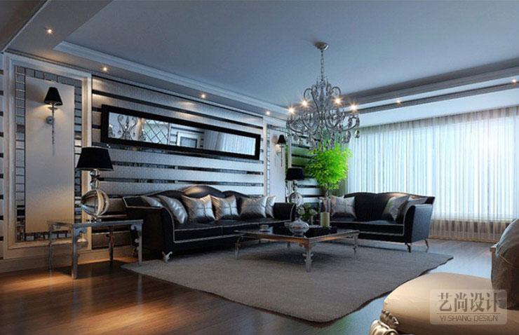 绿城水岸名苑140平方三室两厅简约欧式客厅装修效果