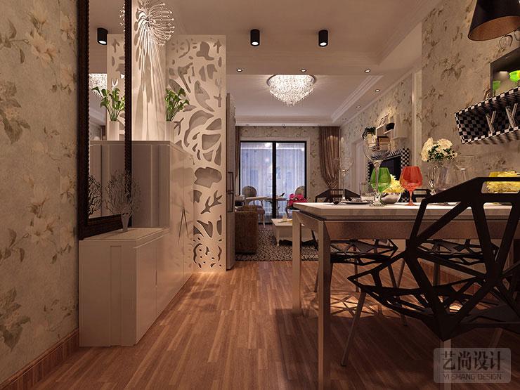 升龙玺园80平方两室两厅现代简约装修案例效果图 高清图片