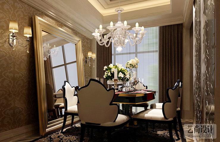 120平方两室两厅简欧风格装修案例图片