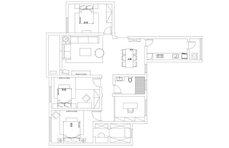 永威五月花城176平方四室两厅两卫户型图