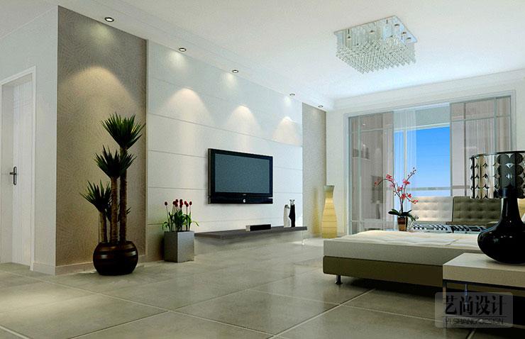 一套由艺尚装饰设计师时萌设计的金印阳光城85平方两室两厅装修效果图