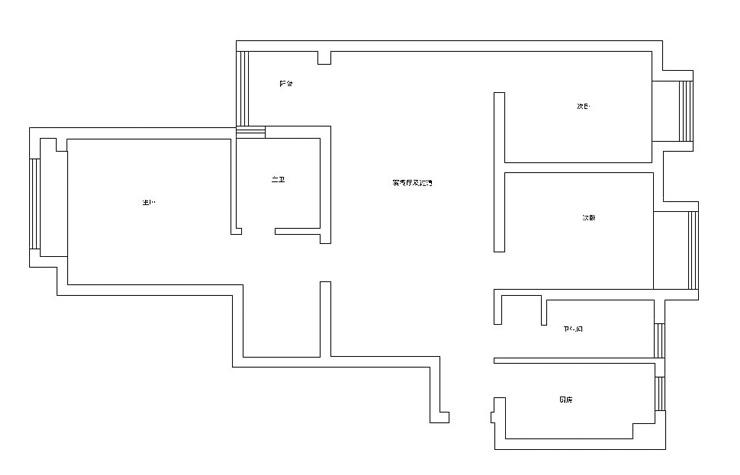 此套由艺尚装饰设计师冯林设计的怡丰新都汇118平方三室两厅装修效果