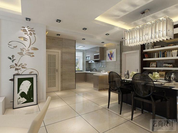 方圆经纬装修餐厅厨房效果图87平方 高清图片