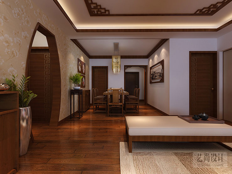 银基王朝150平方三室两厅装修效果图 高清图片