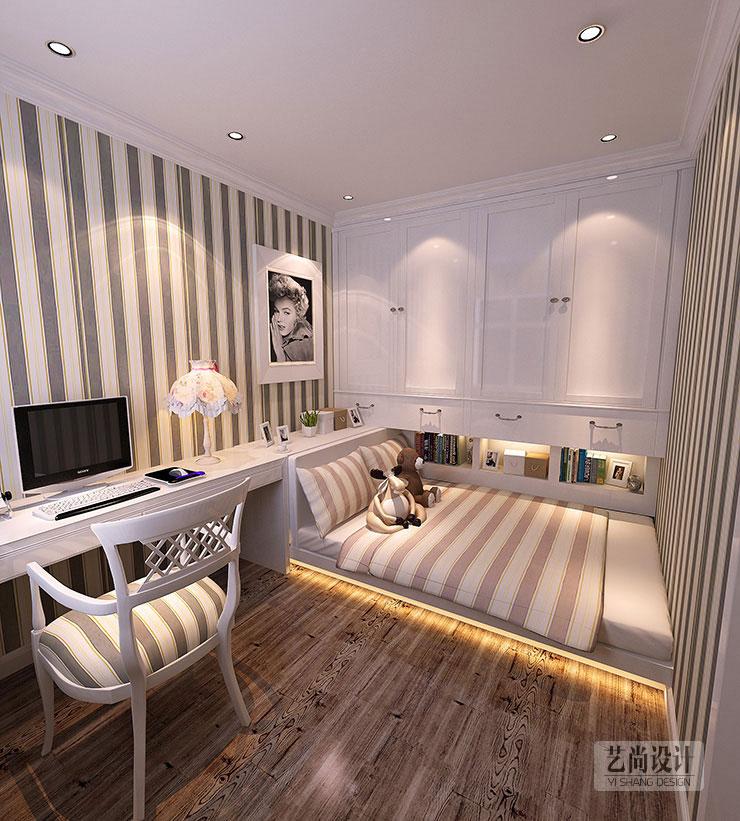 两室两厅90平装修图_正商新蓝钻两室两厅效果图_90平方样板间装修案例_郑州艺尚装饰