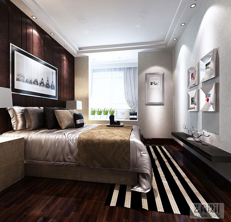 新蓝钻装修90平方两室两厅装修简欧风格效果图图片