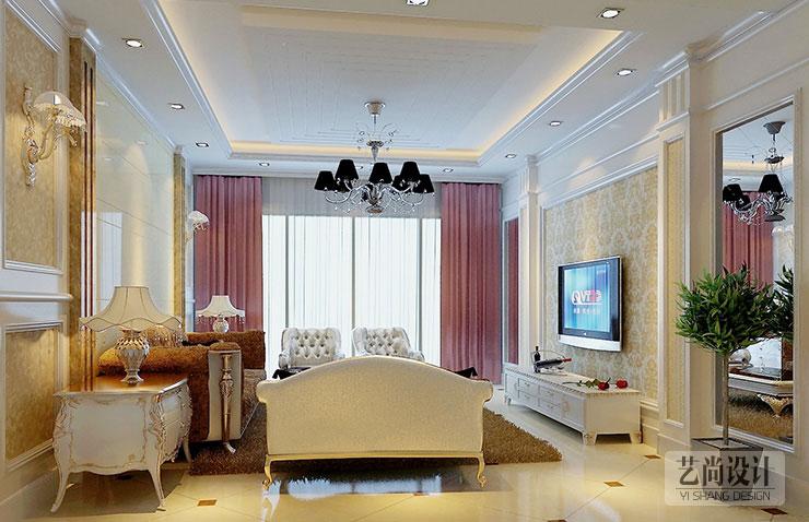 九锦台121平方三室两厅现代简约装修效果图