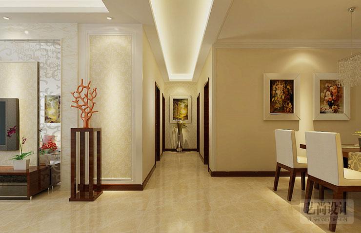 九锦台d2户型两室两厅简约风格装修效果图-过道吊顶